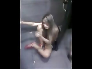 girl in nightclub toilet
