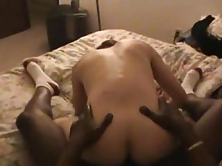 Hotwife moans for BBC in her ass!