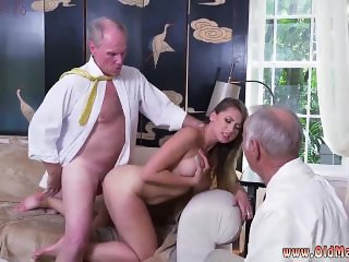 Old man eats girls pussy and latina old guy