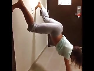 Brooke Tessmacher big jiggly booty yoga pants