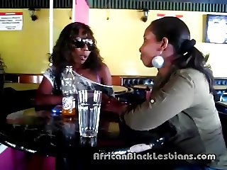 Slutty African hottie seduced by sista