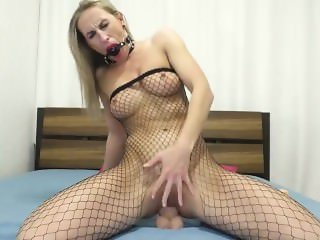 Masturbation dildo in ass
