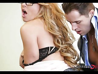 MILF Wearing Glasses gets Penetrated for Promotion