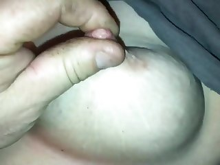 Love playing with her tits