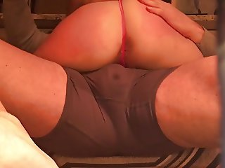 Phat Ass Dry Hump Spread Wide Open and Spanked Hard