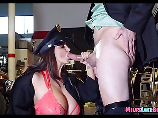 MILF Cop with Giant Jugs