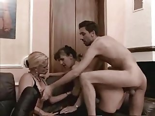 Lesbian threesome gone anal Real amateur mature lesbos