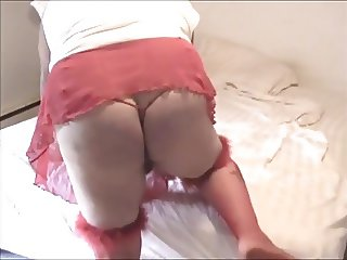 Betsy in bed room playing girly boy