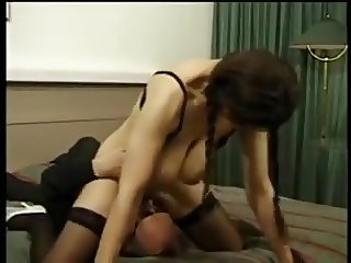 Mature With Floppy Tits Rimming Ass