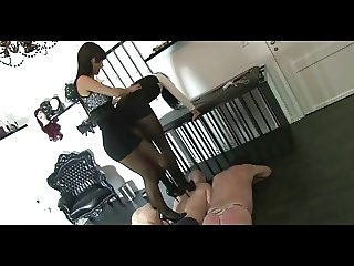 Mistress' trampling, kicking and humiliating