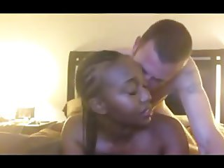 Sexy Black Chick Fucks White Boyfriend