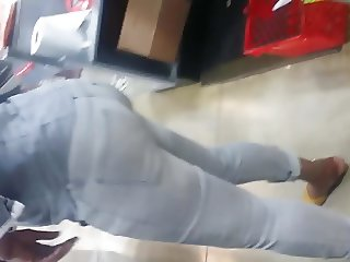 Sexy candid haitian booty