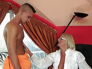 Freshly Divorced Mum Worshiped by her Boy-Toy