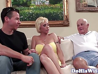 Real milf anally banged in front of husband