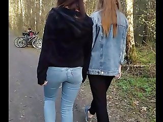 Good ass in the forest