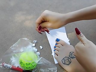 The Winner of the autographed tennis ball