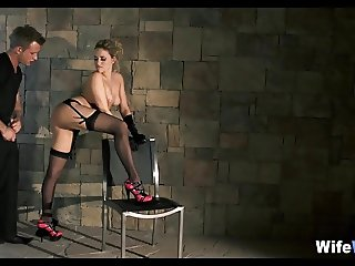 High Heel Fishnet Cheating Wife