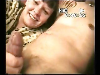Sucking hard at cock