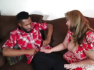 Asian BBW Slut Begs for Big Black Cock