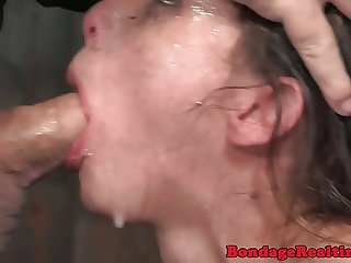 Humiliated submissive pussyravaged in trio