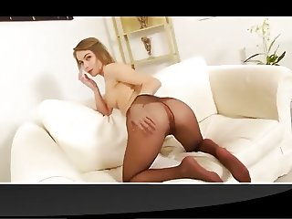 Girl is sexy in black pantyhose (YST)