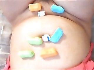 Ginger Paris Candy Play Stuffed Pussy With Cotton Candy Mint