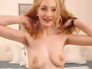 cum for me sexy blond with small saggy tits