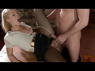 The pantyhose shredder (pissing perfection)