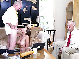 Busty Teen Ivy Rose Sucks And Fucks Old Man