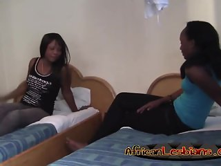 Ebony lesbian chicks have amazing time