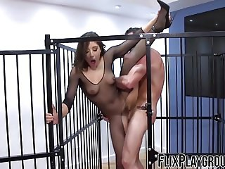 Blasting Abella and her hot ass doggystyle with elegance