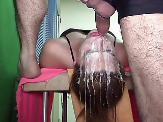 Extreme Messy Teen Throat Fuck
