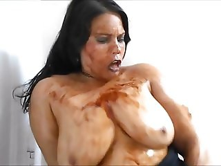 Ginger Paris Orgasmic Chocolate Syrup Pussy Play