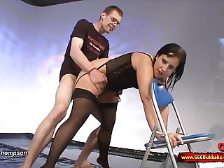 Cum and Piss for dirty chubby Slut Mabea - 666Bukkake