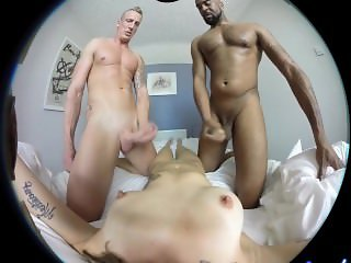 Female POV, 3D VR porn, Double penetration with Luke Hardy and Dru Hermes