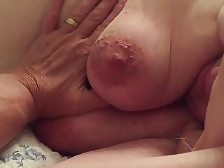 BBW Wife Clair - Big Tits Close Up Fondled