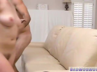 Blonde cum belly and lucky old man fucks
