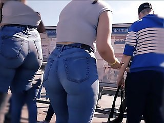Candid Teen Fat Ass in Jeans 32