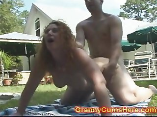 Granny FUCKED in Public VIEW