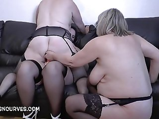 Three British Lesbian pussy and anal penetrations