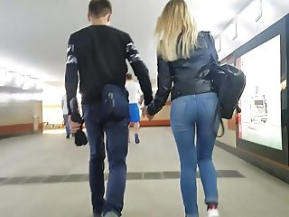 Cute blonde with deluxe ass