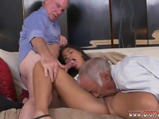 Old mexican gardener and guy fucks young