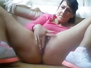Mom masturbating after workout
