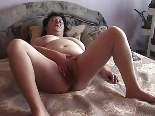 Senior couple play (cum on face end)