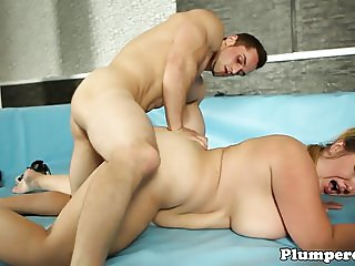 Wrestling bbw catfights before doggystyle sex