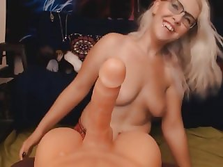 Hot Babe Rides Her Sex Toy For Her Viewers