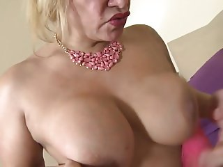 Mature whore mother suck and fuck young lover