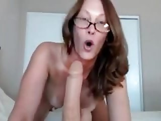 Mature nerdy boobs solo
