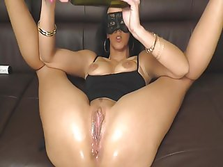 German milf and her bottle