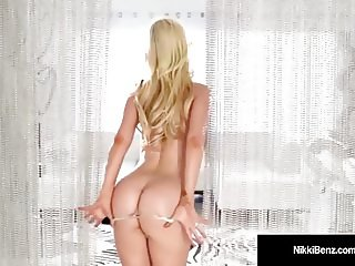 Canadian Star Nikki Benz Strips Teases & Plays w Our Minds!